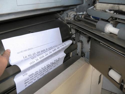 cách sửa máy photocopy bị kẹt giấy