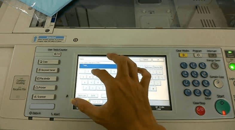 cách scan bằng máy photocopy ricoh